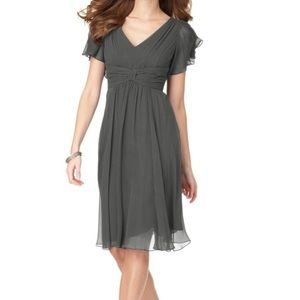Suzi Chin for Maggie Boutique Black Dress chiffon